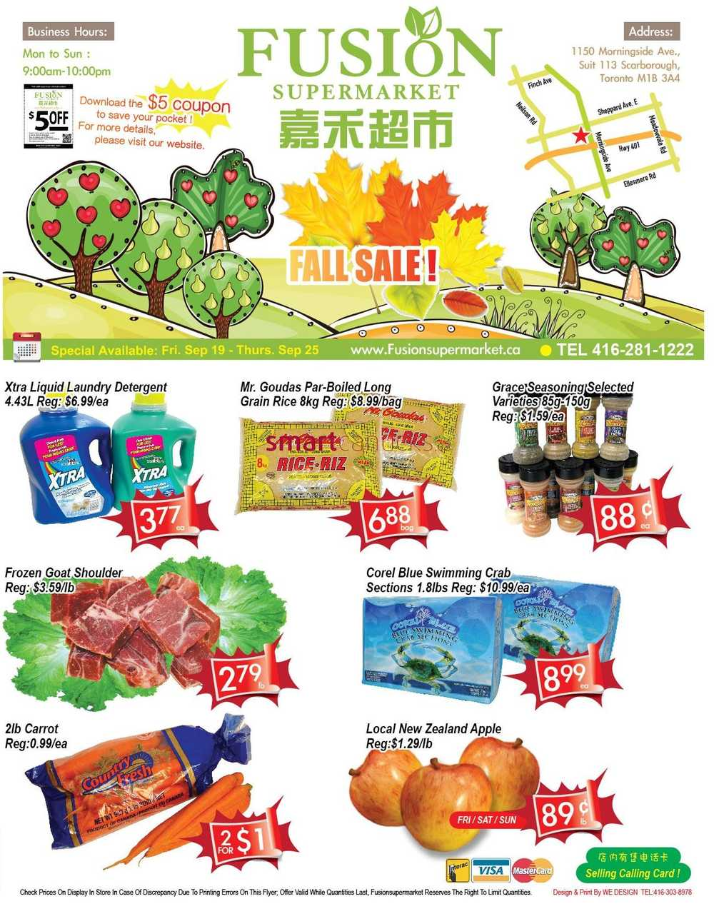 Fusion supermarket flyer september 19 to 25 for 1 2 3 fusion