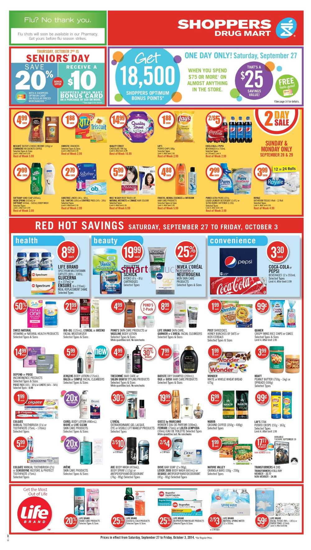 Shoppers Drug Mart (ON) flyer September 27 to October 3