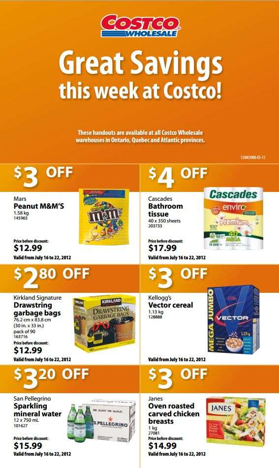 Costco weekly specials for eastern canada jul 16 to 22