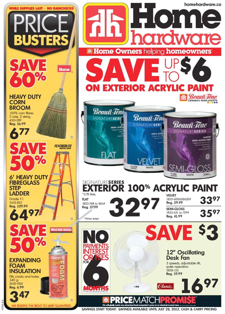 Home Hardware Foyer : Home hardware flyer jul to