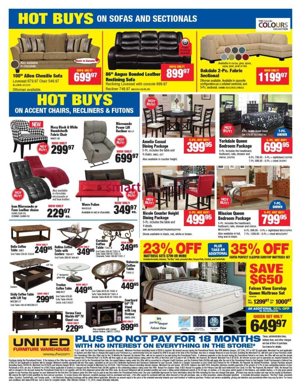 United Furniture Warehouse United Furniture Warehouse Flyer October 7