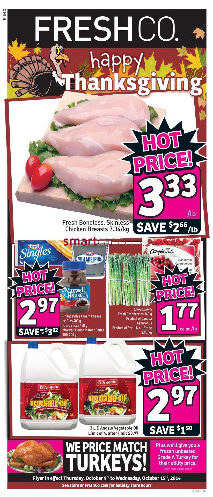 freshco canada weekly flyers thursday october 9 to