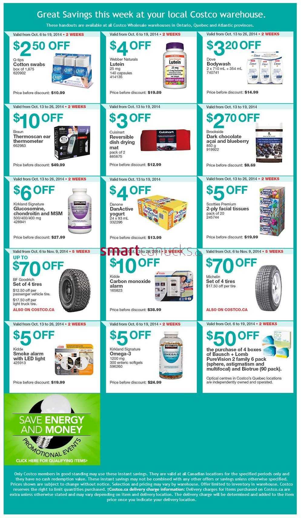 Costco Weekly Savings October 13 to 19