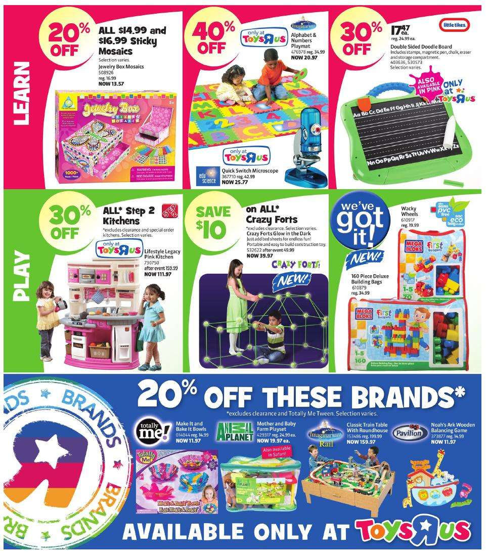 Toys R Us Flyer : Flyer toys r us jul to canada flyers coupons deals