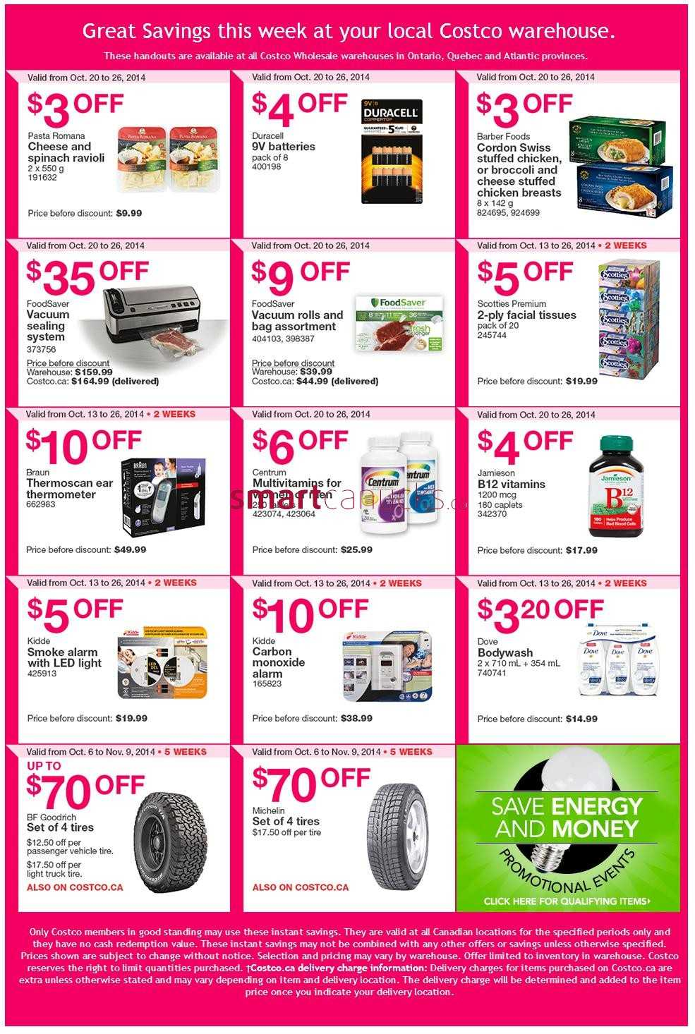 Costco weekly savings on qc amp atlantic canada october 20 to 26