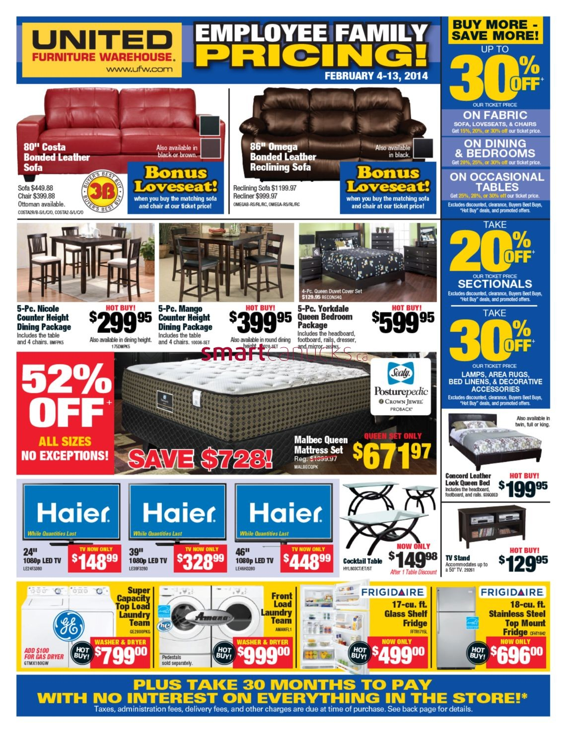 United Furniture Warehouse Flyer February 4 To 13