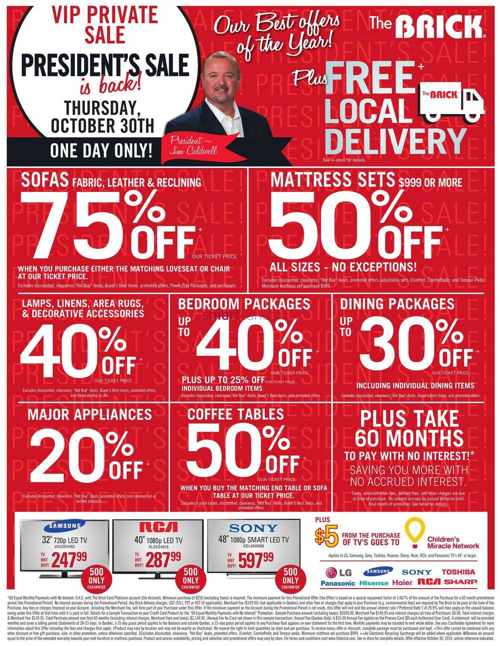 the brick one day sale flyer valid on october 30th