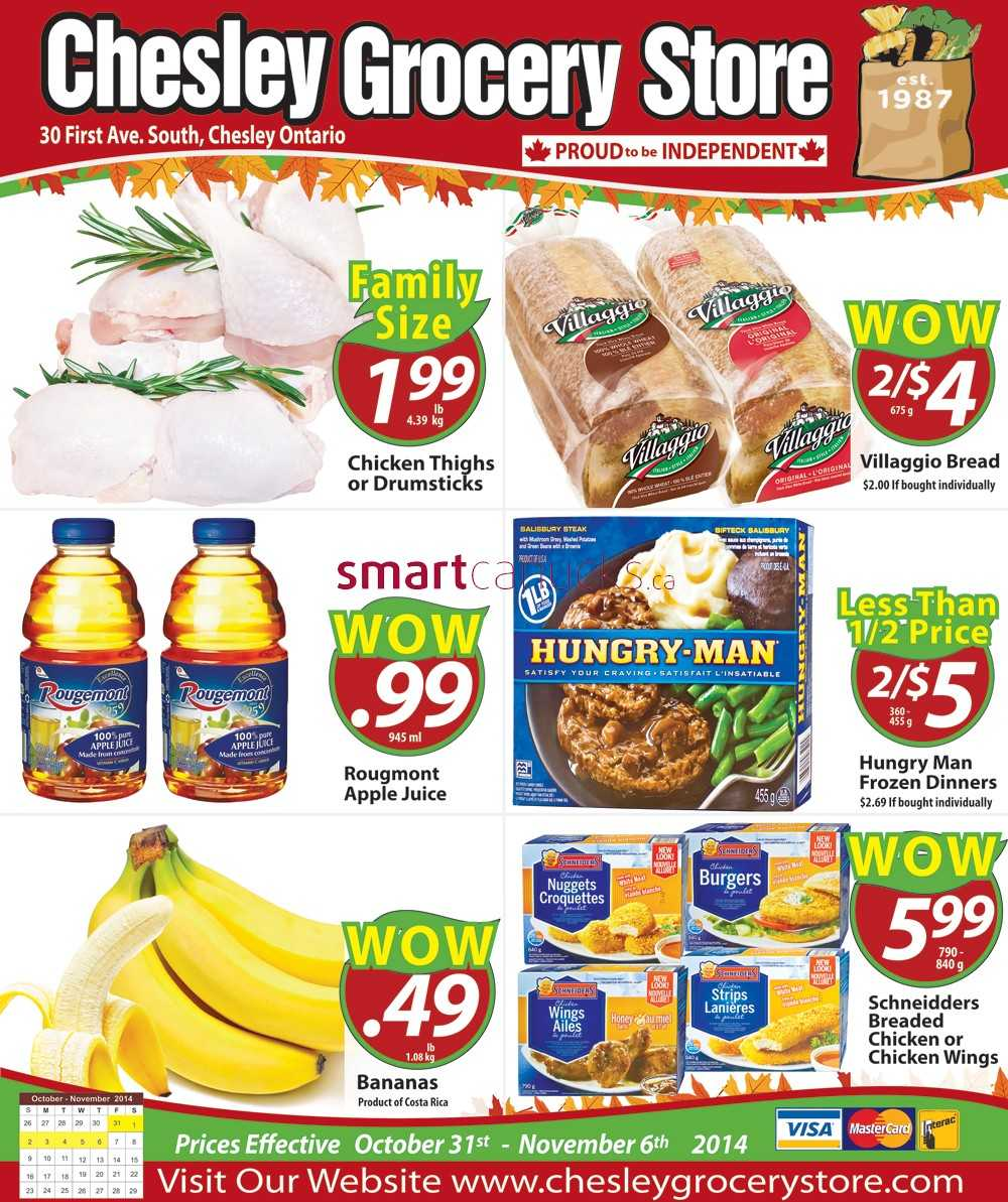 Chesley Grocery Store flyer October 31 to November 6