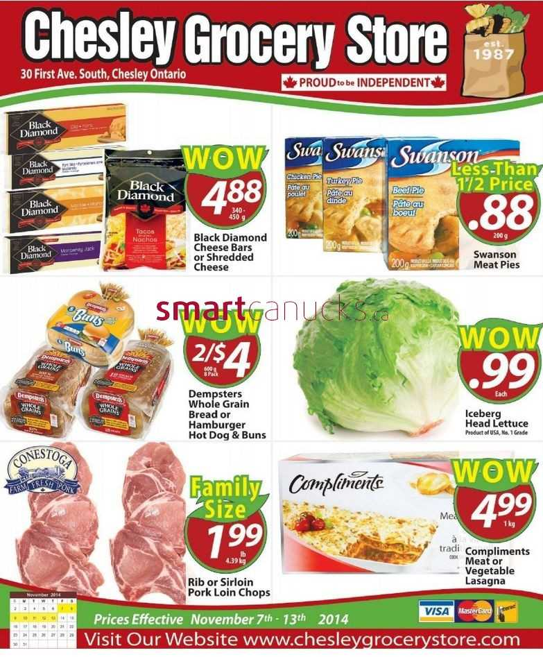 Chesley Grocery Store flyer November 7 to 13