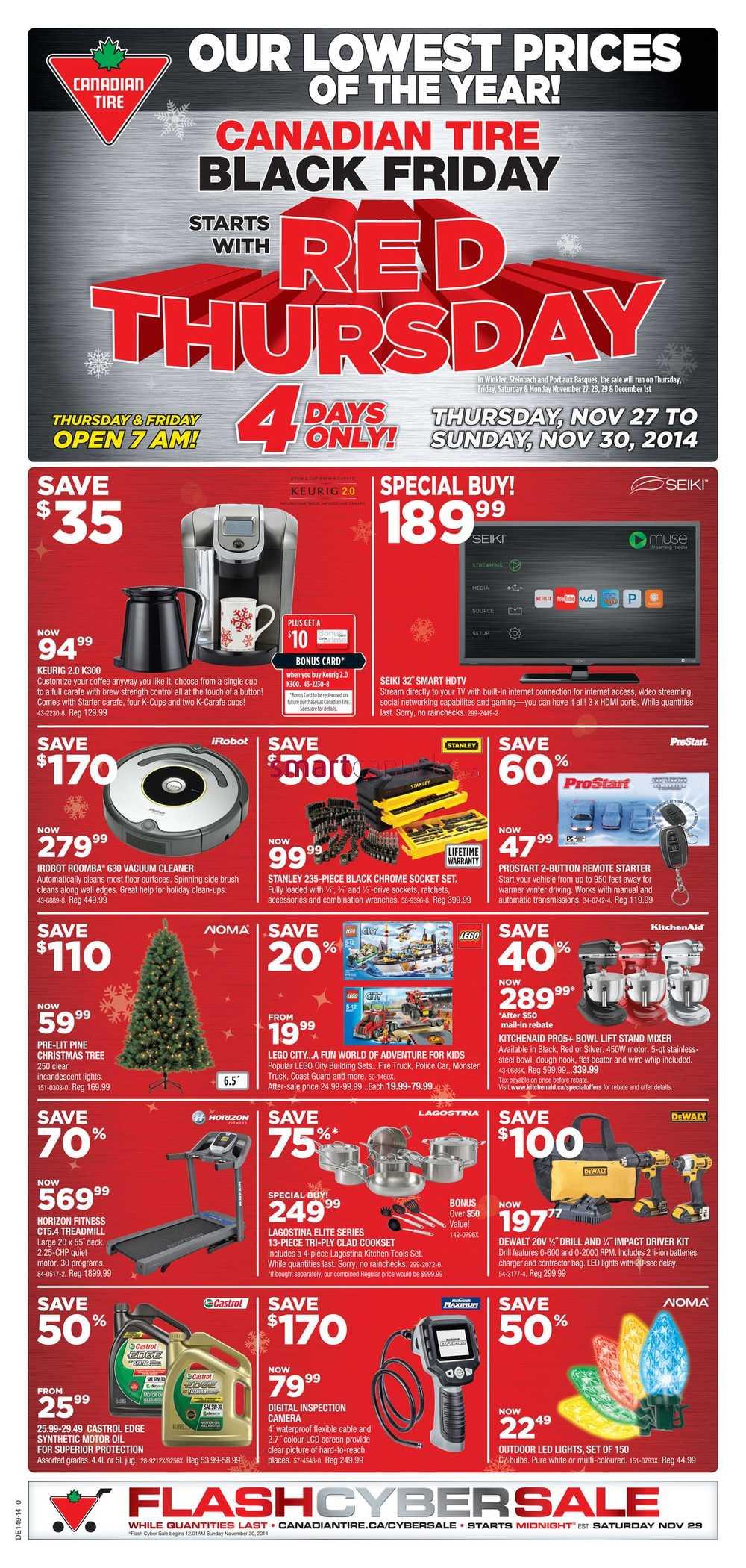 Canadian Tire Black Friday Flyer 2014 Deals Amp Sales