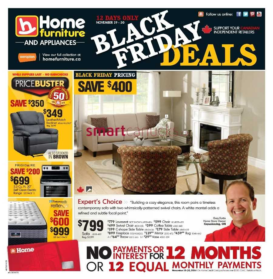 Home Furniture 2014 Black Friday Flyer November 19 To 30