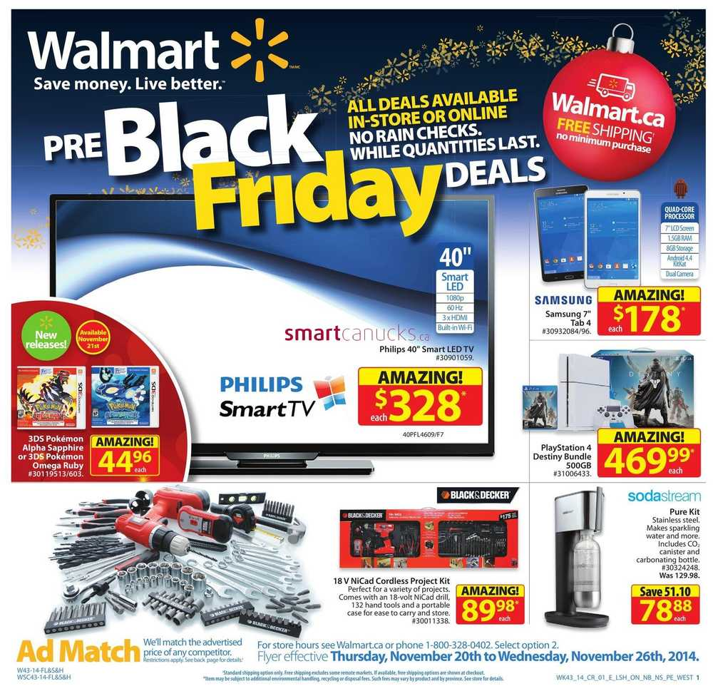 Black friday tv deals canada 2018