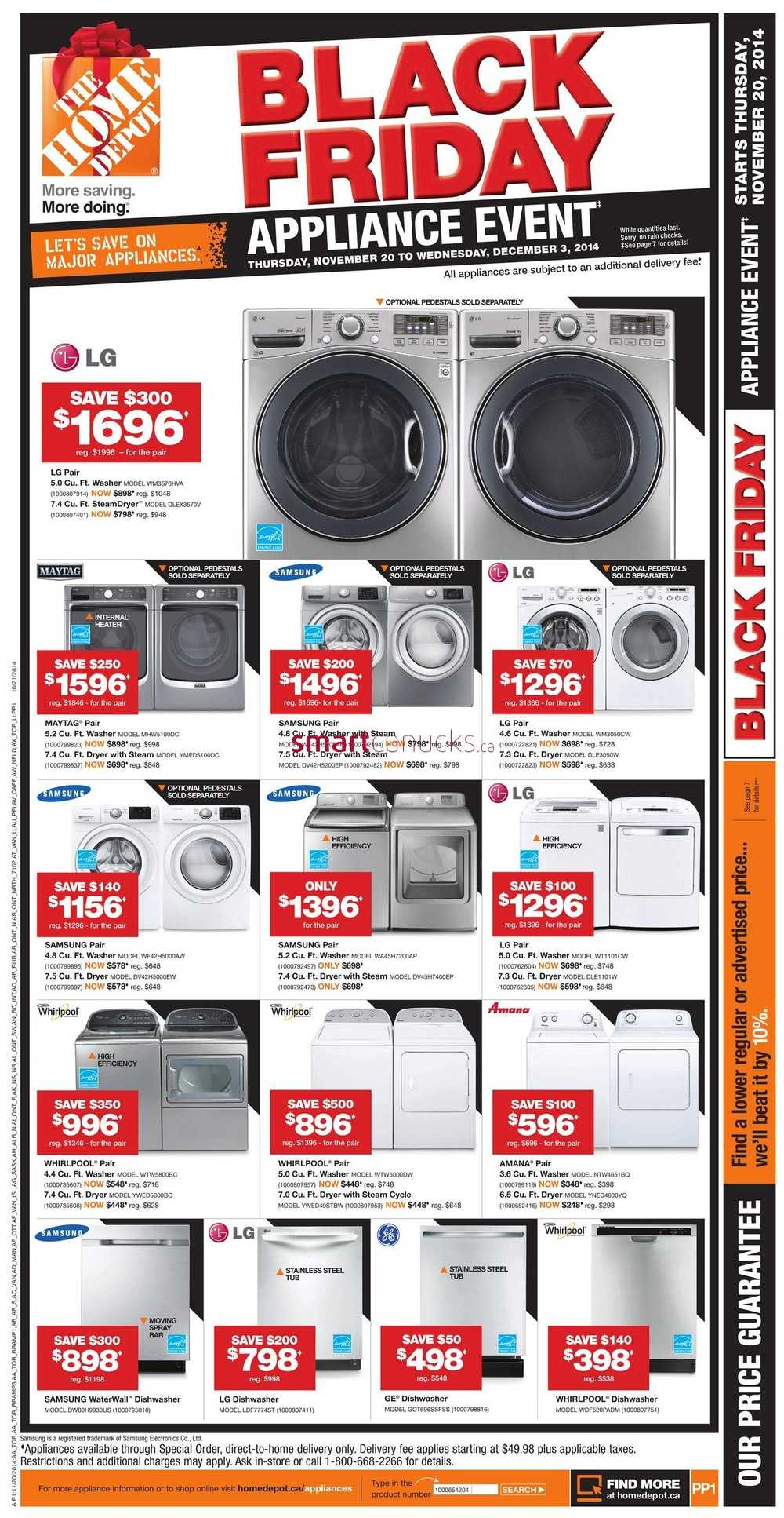 Home Depot 2014 Black Friday Appliance Event Flyer