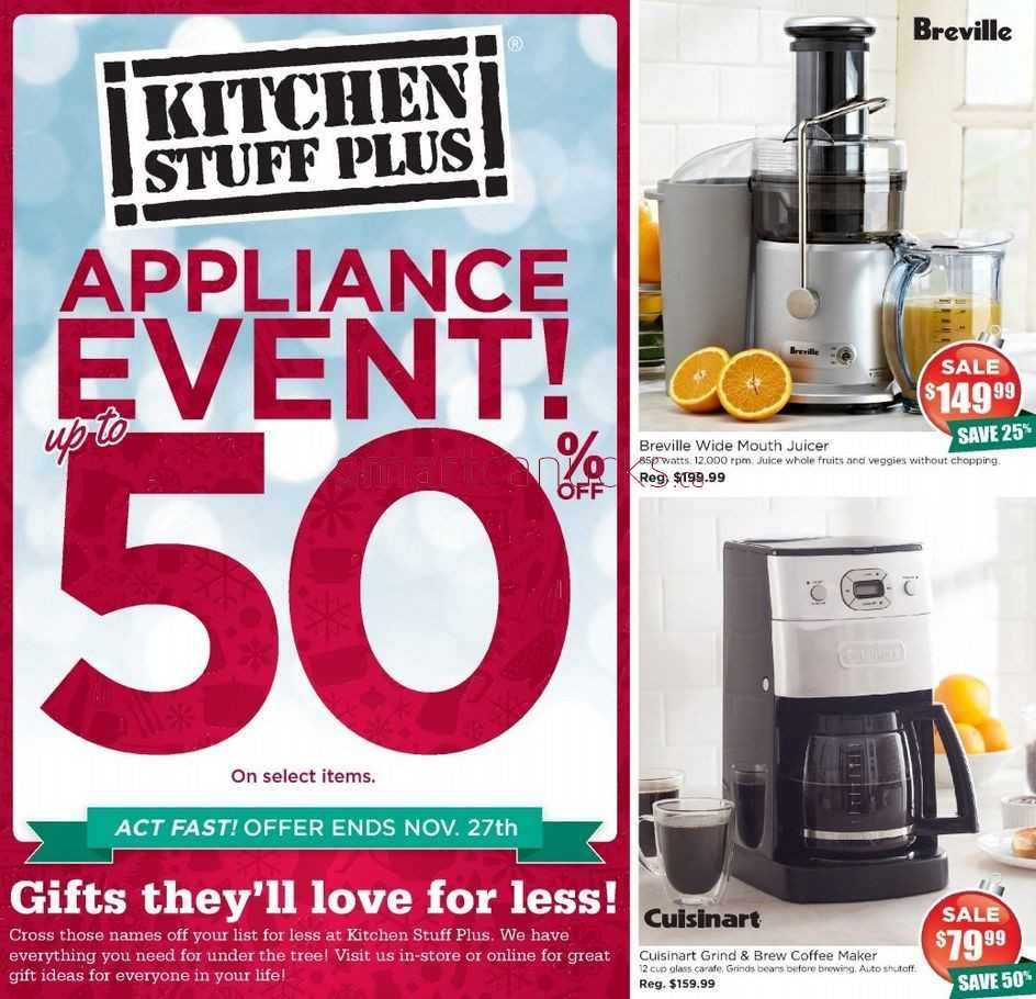 Kitchen stuff plus flyer november 20 to 27
