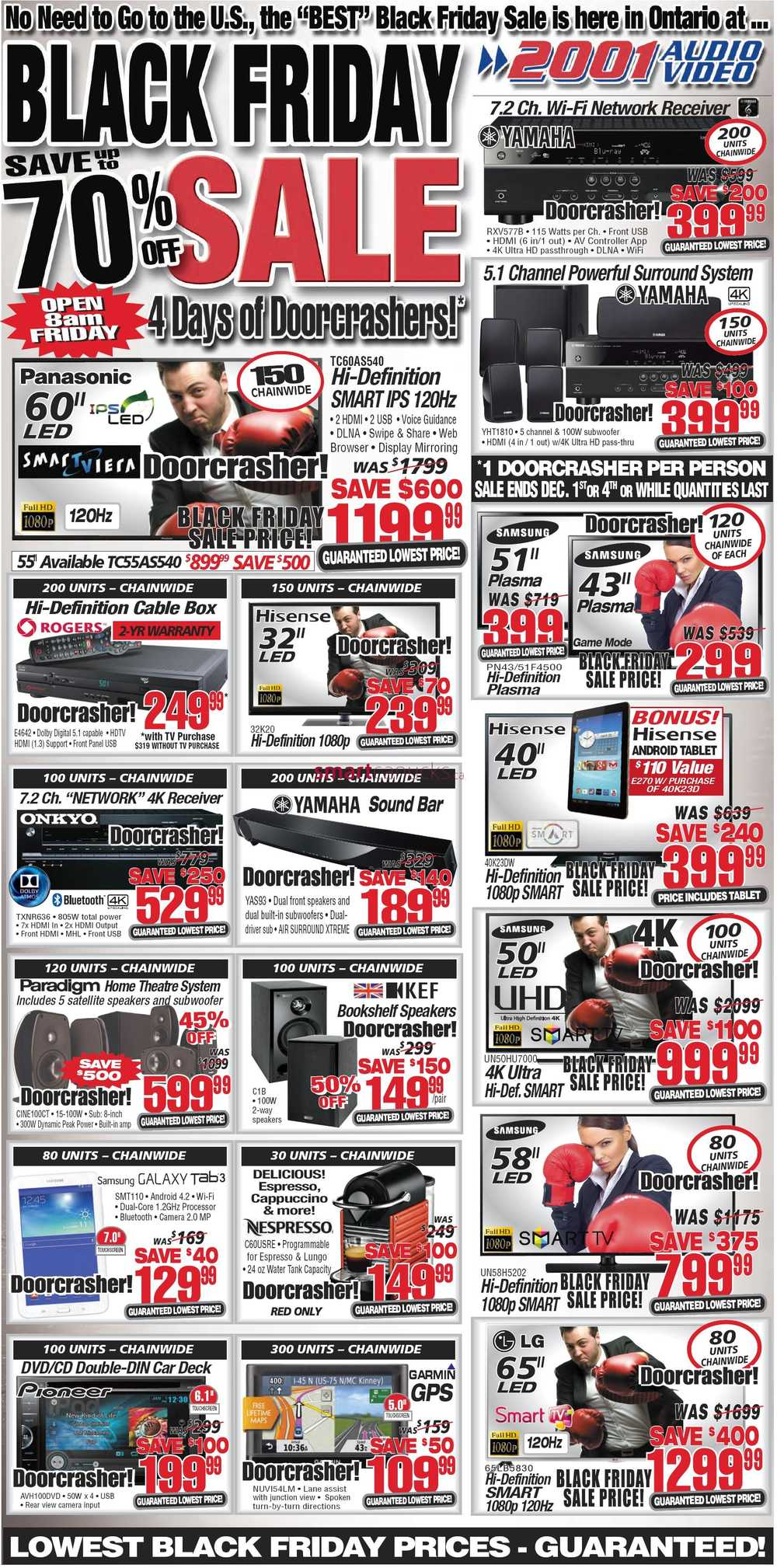 2001 Audio Video Black Friday 2014 Flyer Sales Deals