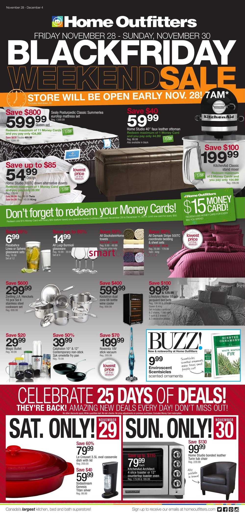 home outfitters black friday weekend flyer