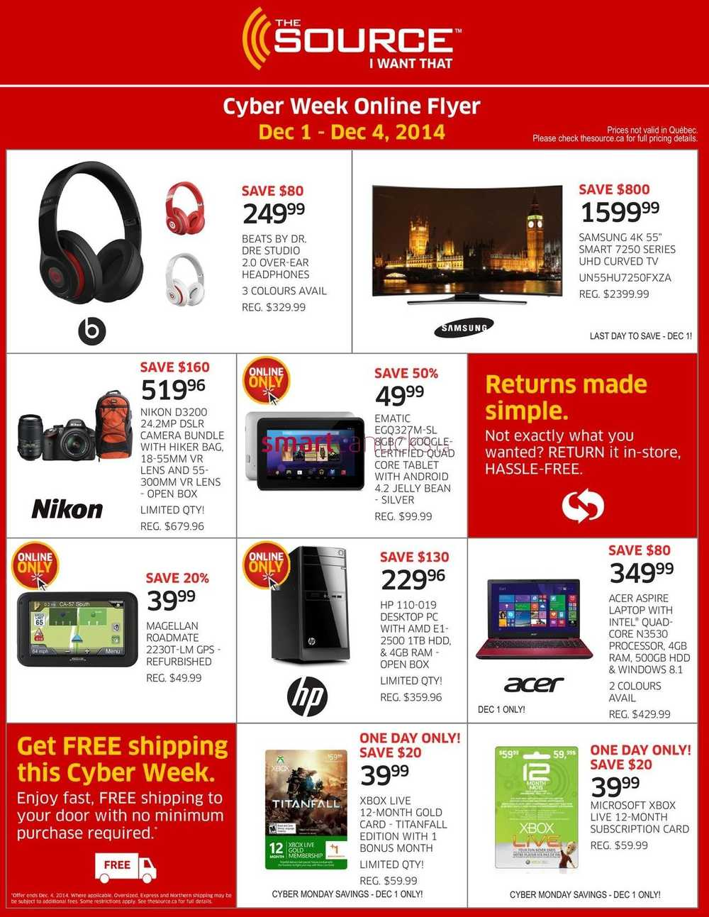 the source cyber monday online flyer 2014