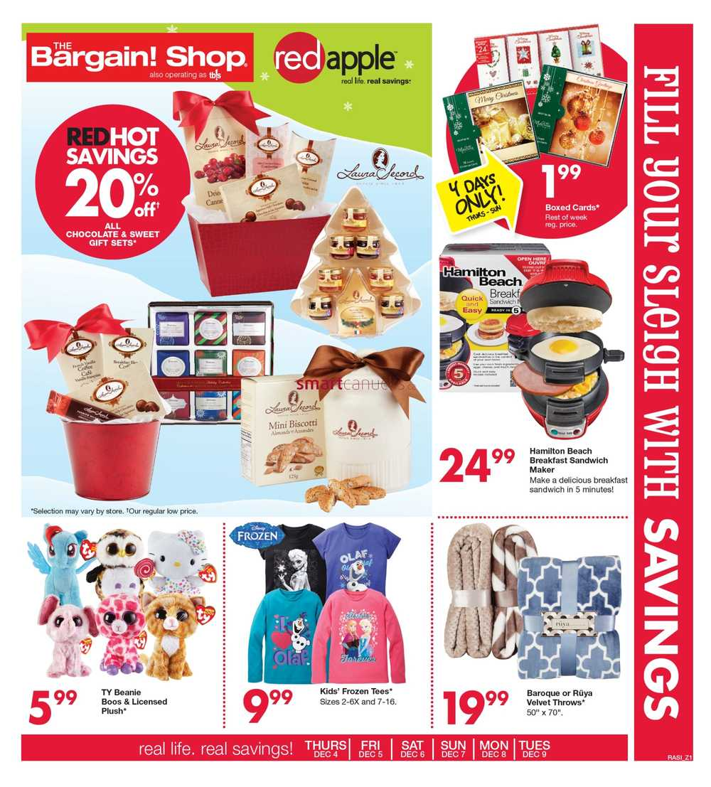 Shop Outlet Canada: The Bargain Shop & Red Apple Stores Canada Flyers