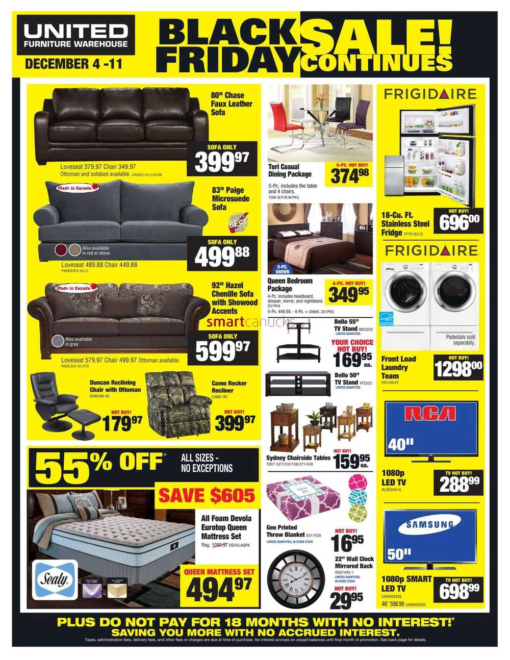United Furniture Warehouse Flyer December 4 To 11