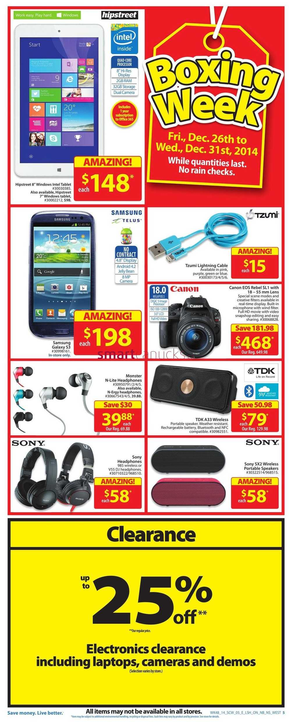 Boxing day deals walmart
