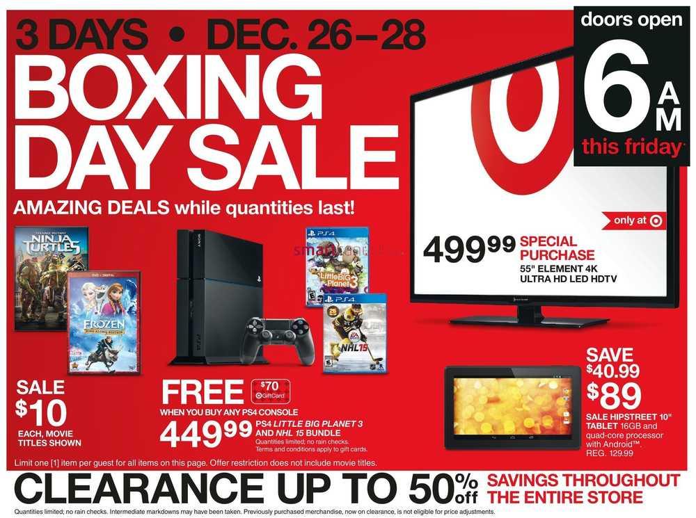 Target Boxing Week Flyer 2014 Deals & Sales - Target Boxing Day Flyer