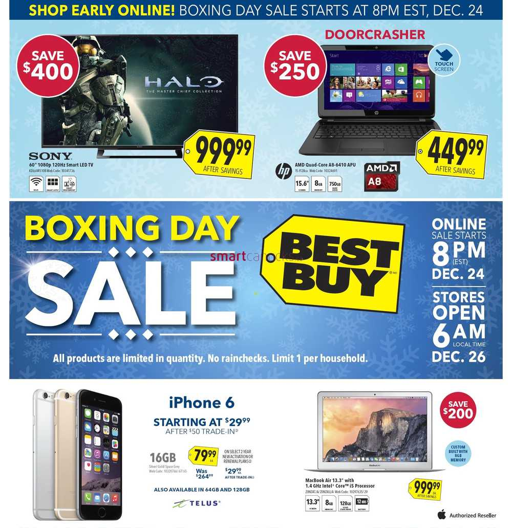 Best Buy Boxing Day 2014 Flyer, Sales and Deals