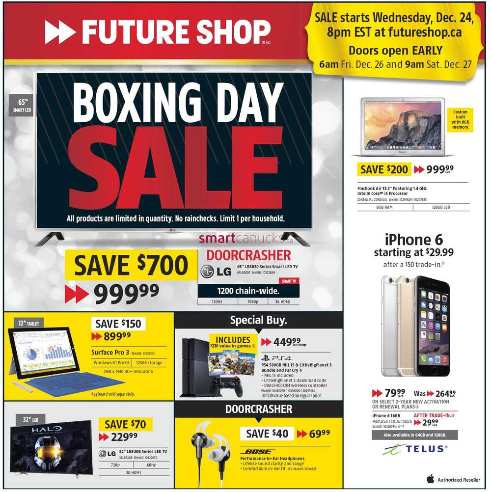 future shop boxing day flyer sales and deals boxing week flyer