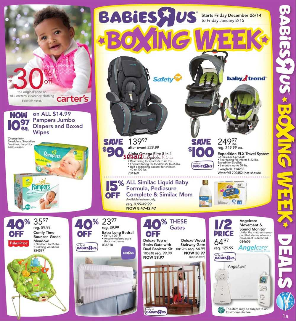 Babies R Us Canada Boxing Week Flyer 2014