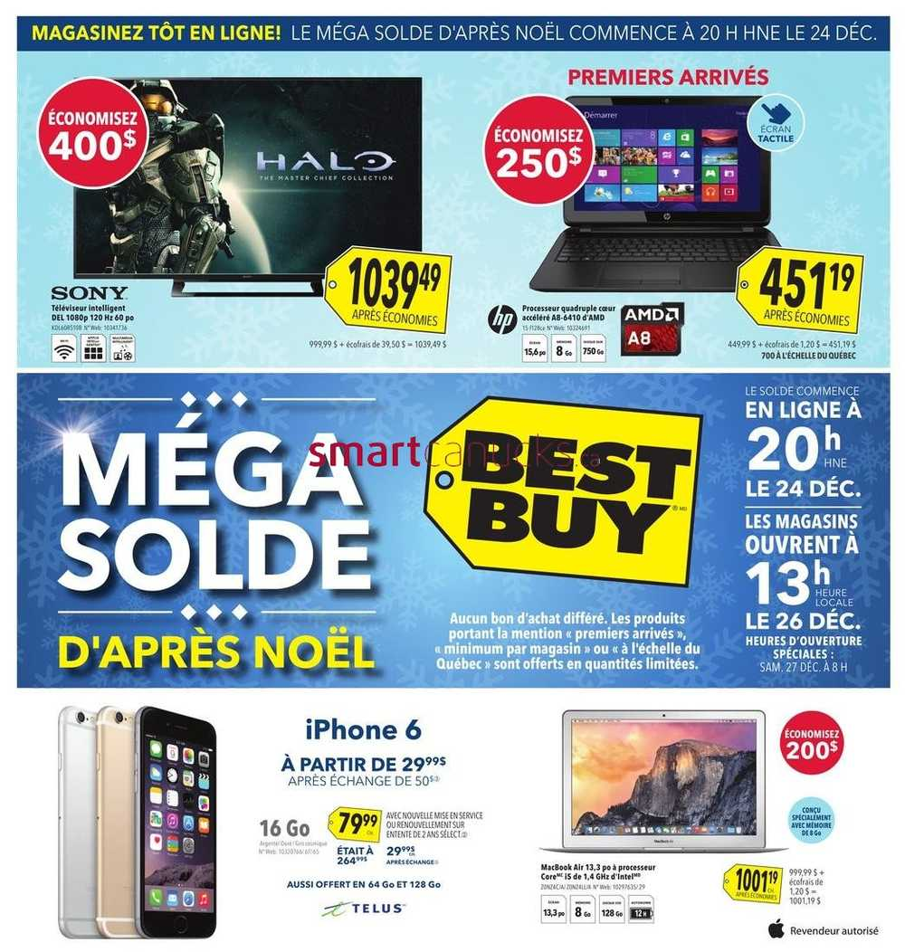 Best Buy (QC) Boxing Day 2014 Flyer, Sales and Deals