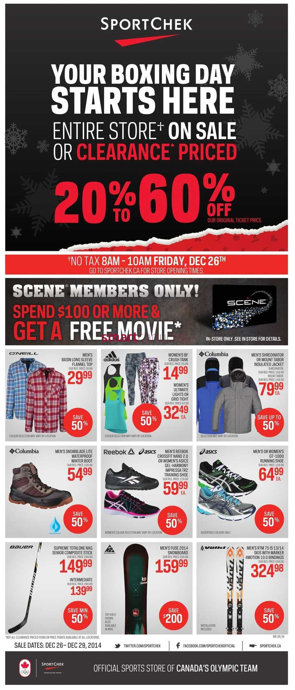 Sport Chek Boxing Day/Week Sale 2014 Flyer