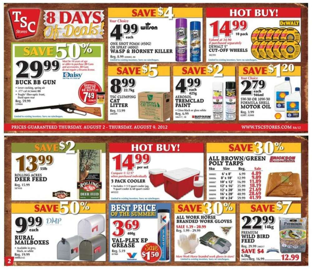 tsc stores flyer aug 2 to 9