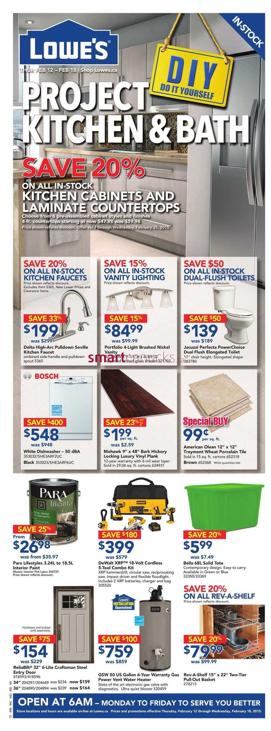 Canada >> Lowe's Flyer February 12 to 18
