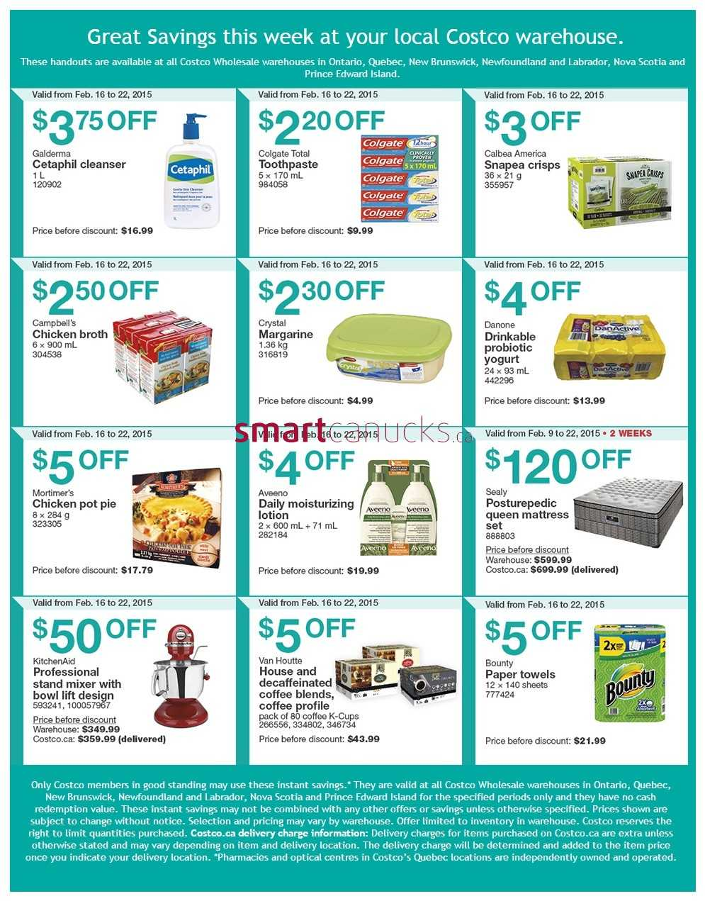 Costco weekly savings on qc amp atlantic canada february 16 to 22