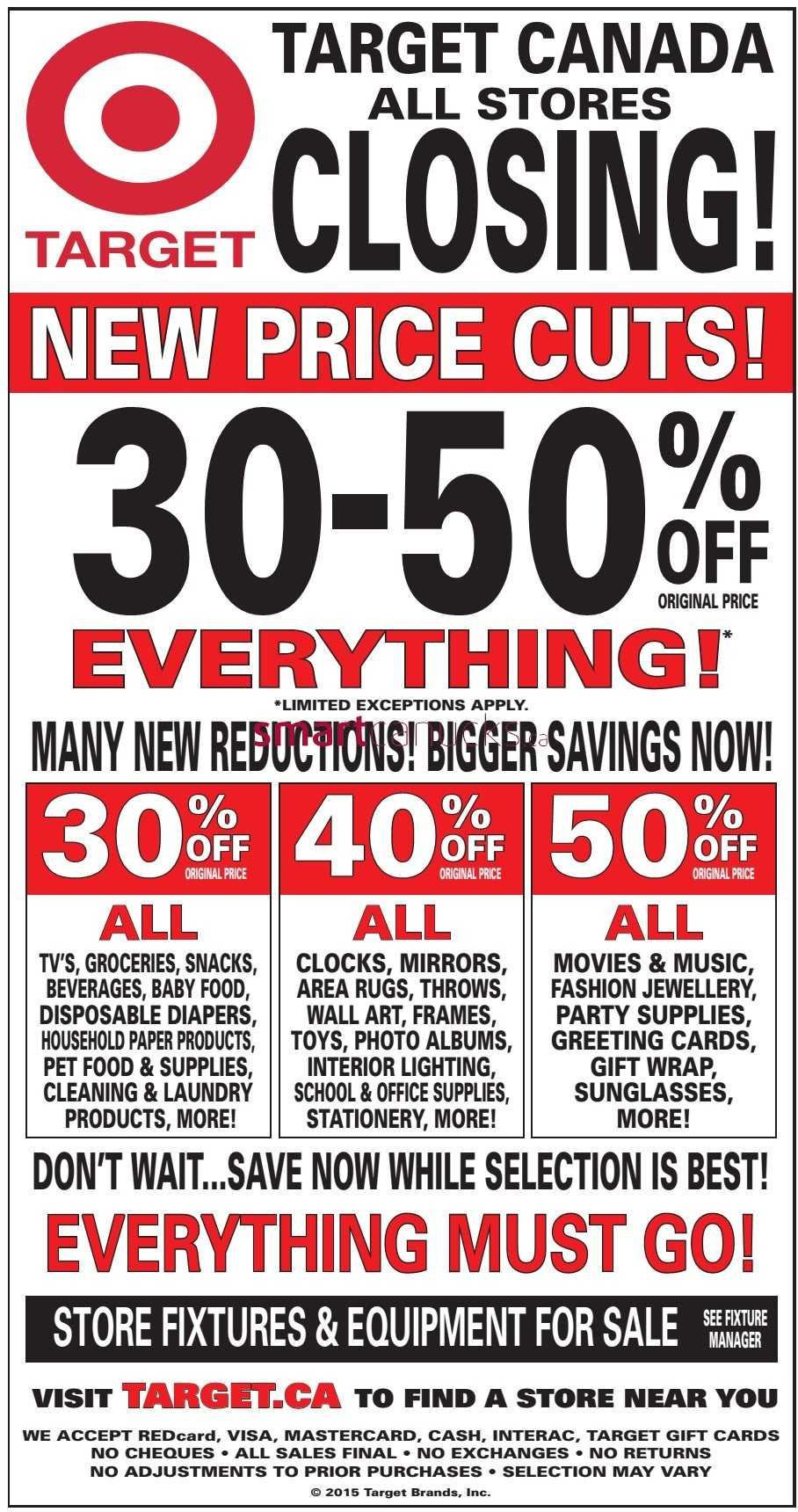 Sale Flyer For Target Target Closing Sale New Price