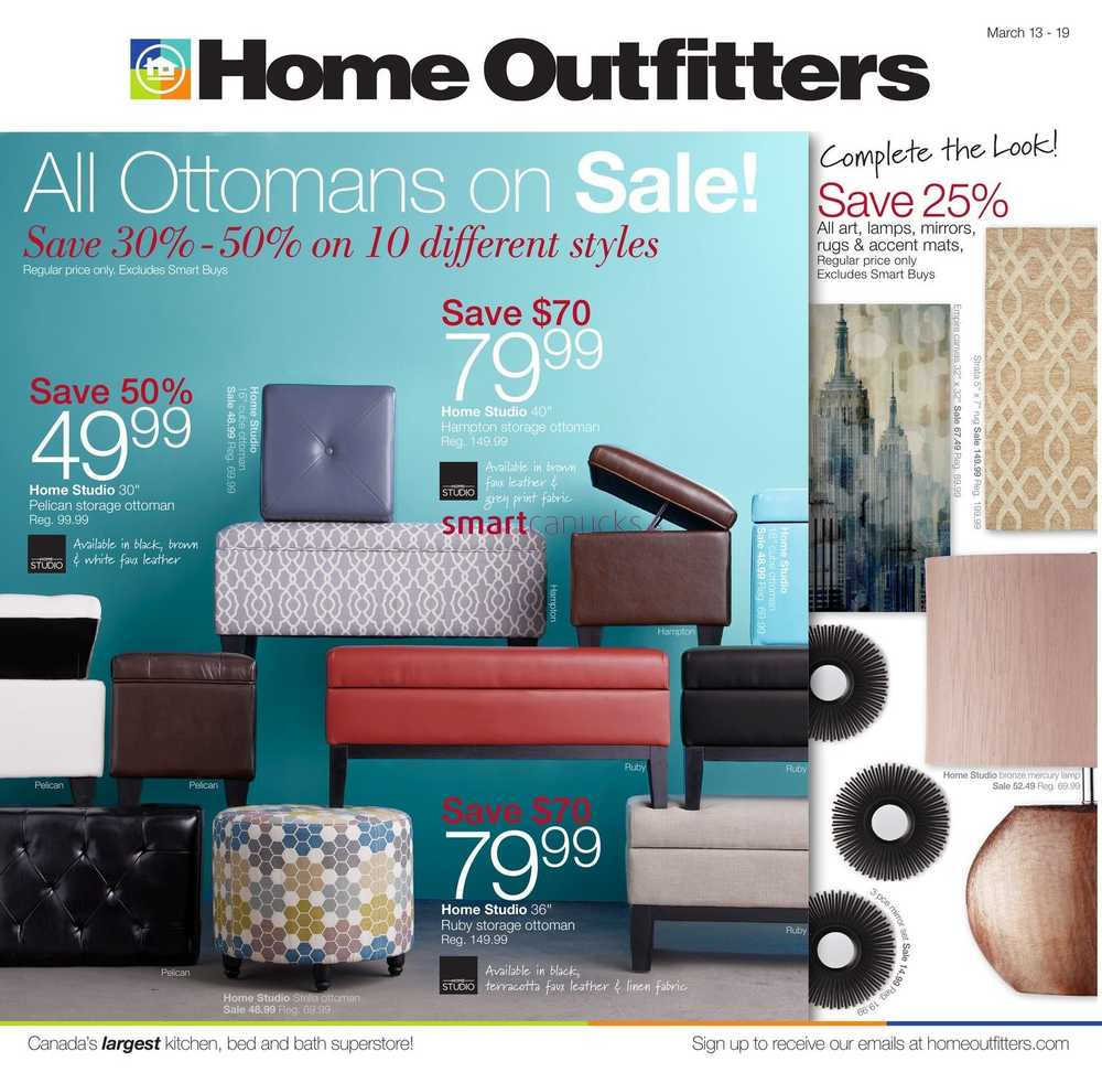 Home Outfitters Flyer March 13 To 19.