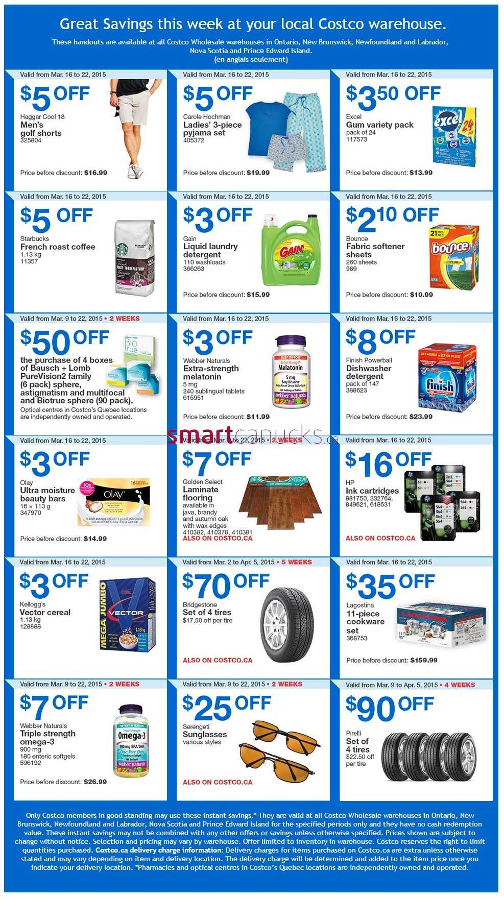 Costco weekly savings on amp atlantic canada march 16 to 22