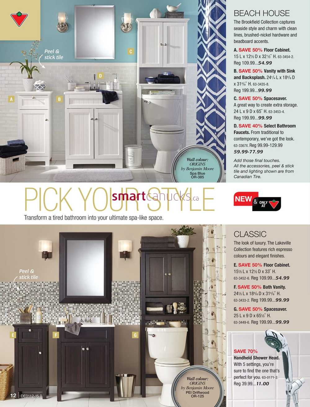 Canadian tire bathroom storage - Simplified View More Canadian Tire Flyers