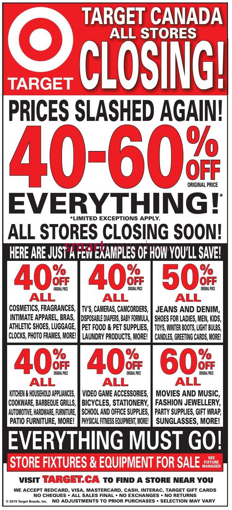 target flyers target closing new price cuts starting 19