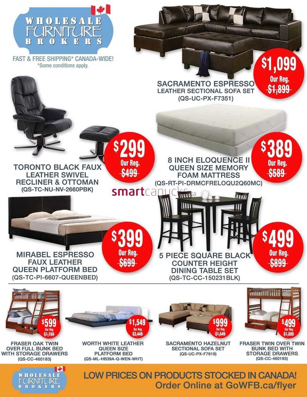 Wholesale Furniture Brokers Canada Flyers