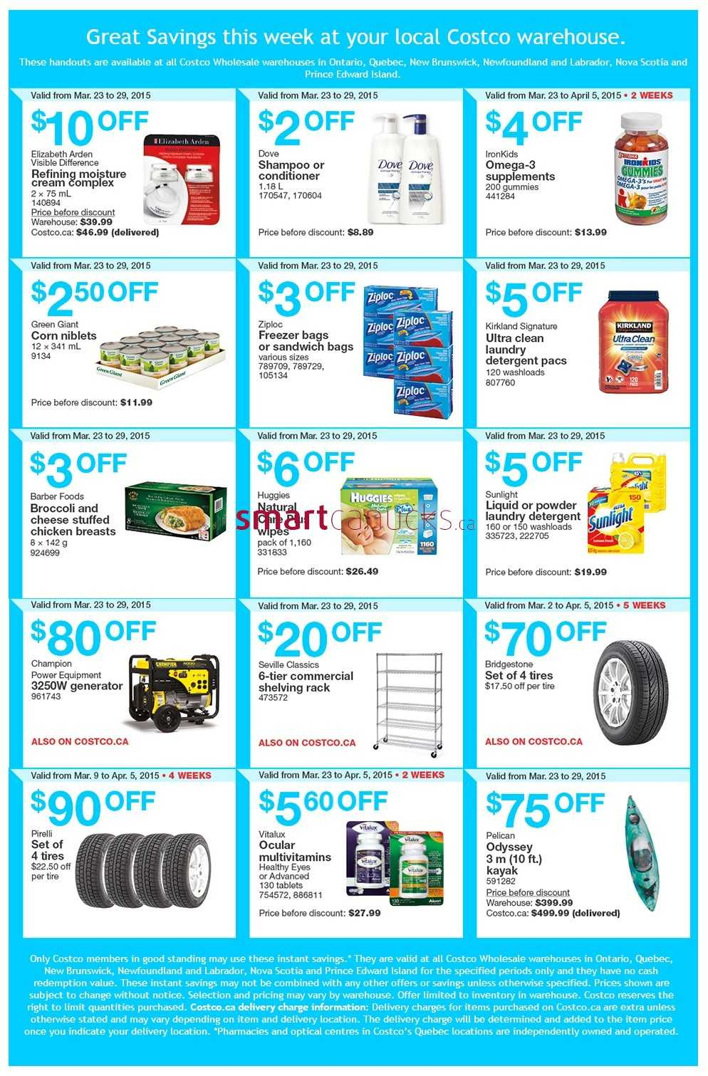 Costco weekly savings on qc amp atlantic canada march 30 to april 5