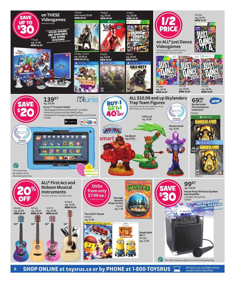 Toys R Us Flyer March 27 to April 6