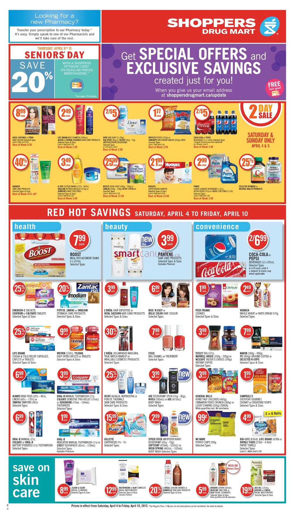 Shoppers Drug Mart (West) Flyer April 4 to 10