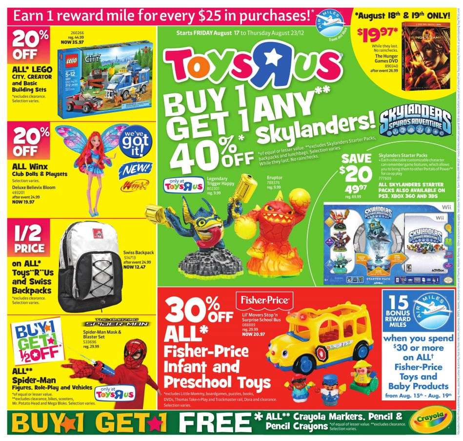 Toys r us flyer aug 17 to 23 for Cuisinette toys r us