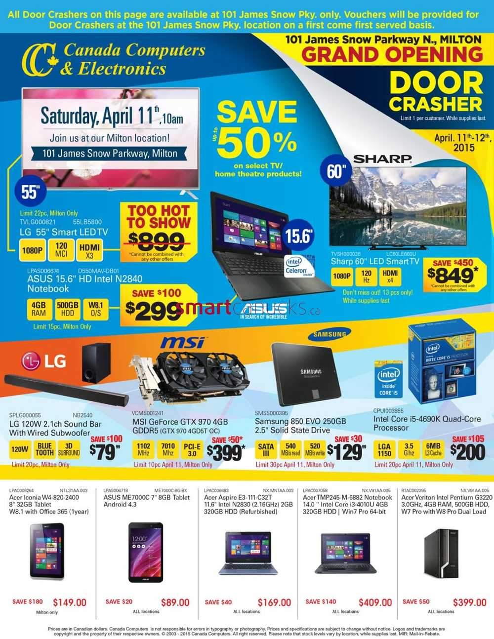 computers grand opening flyer