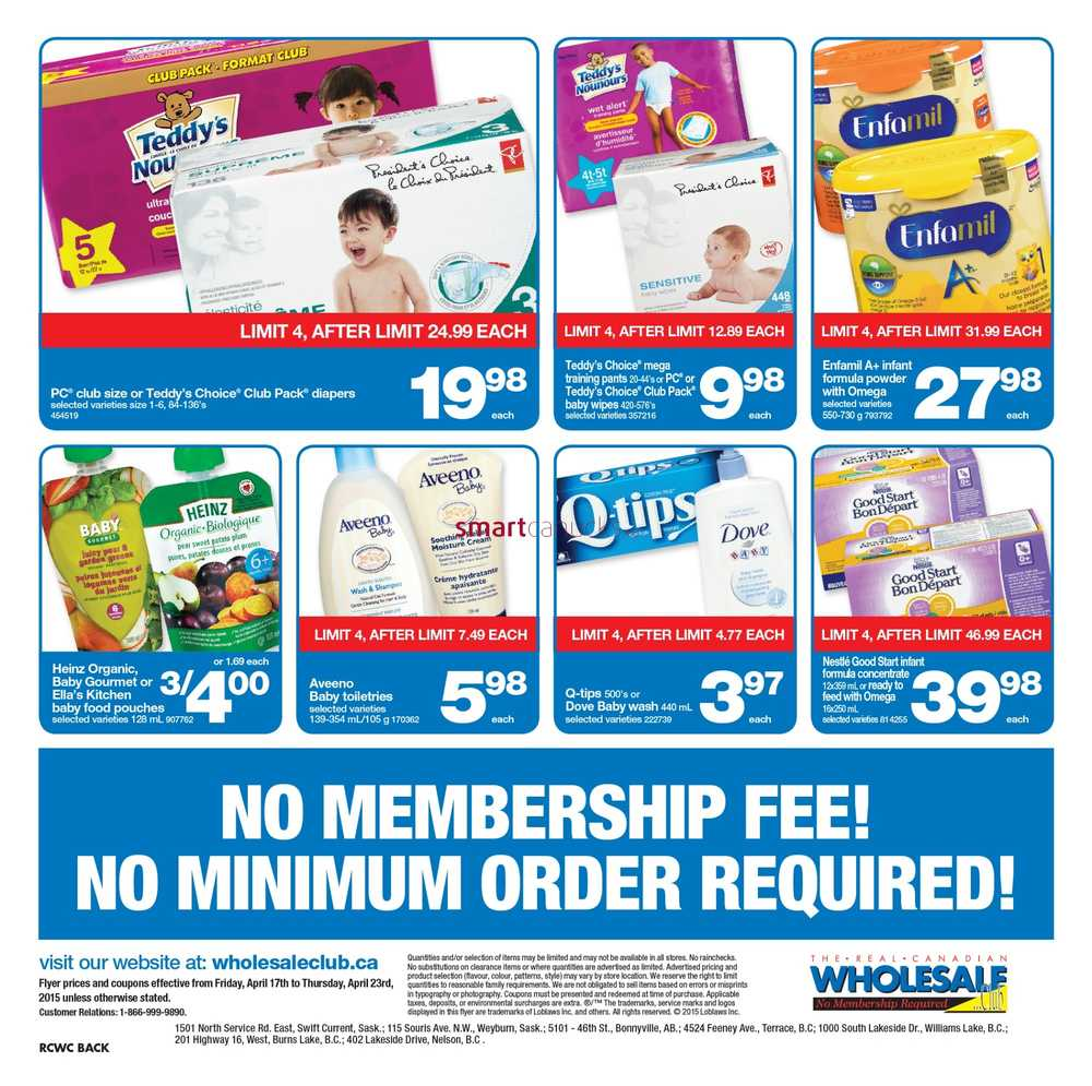 Real Canadian Wholesale Club Weekly Flyer – valid 27 September – 17 October is currently available – Find the latest weekly flyer for Real Canadian Wholesale Club. Also, keep your challenge with coupons and great deals from Real Canadian Wholesale Club.