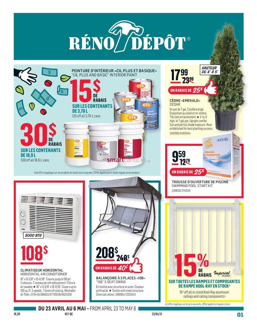 Reno Depot Flyer April 23 to May 6