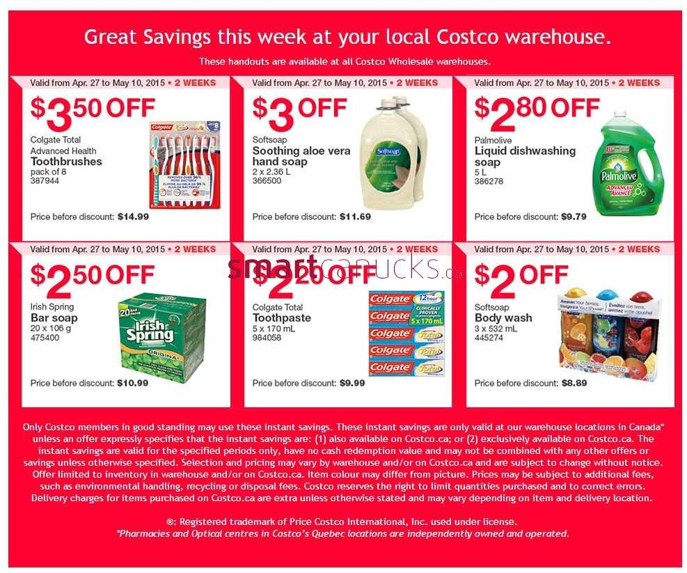 Costco weekly savings all locations april 27 to may 10