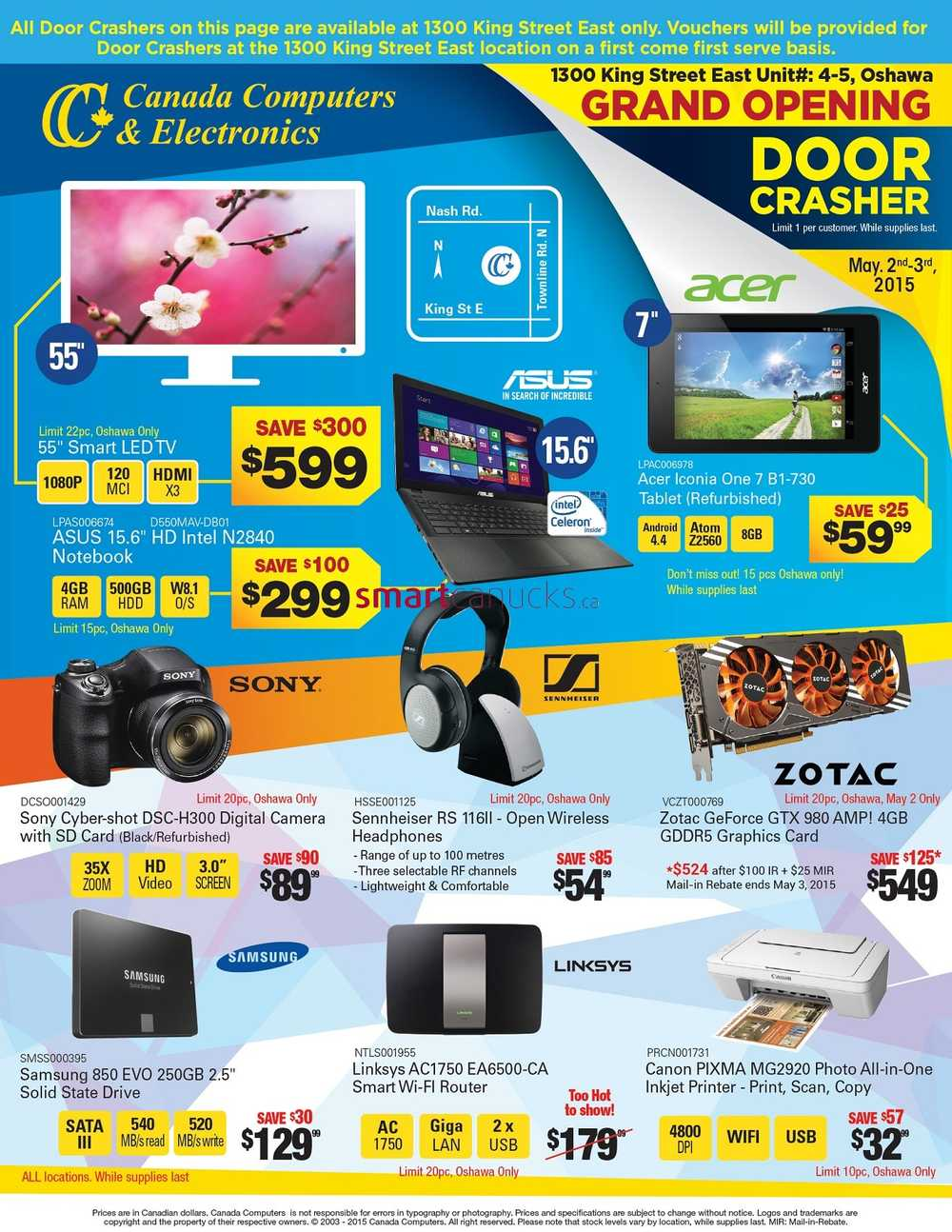canada computers grand opening sale flyer may 2 3