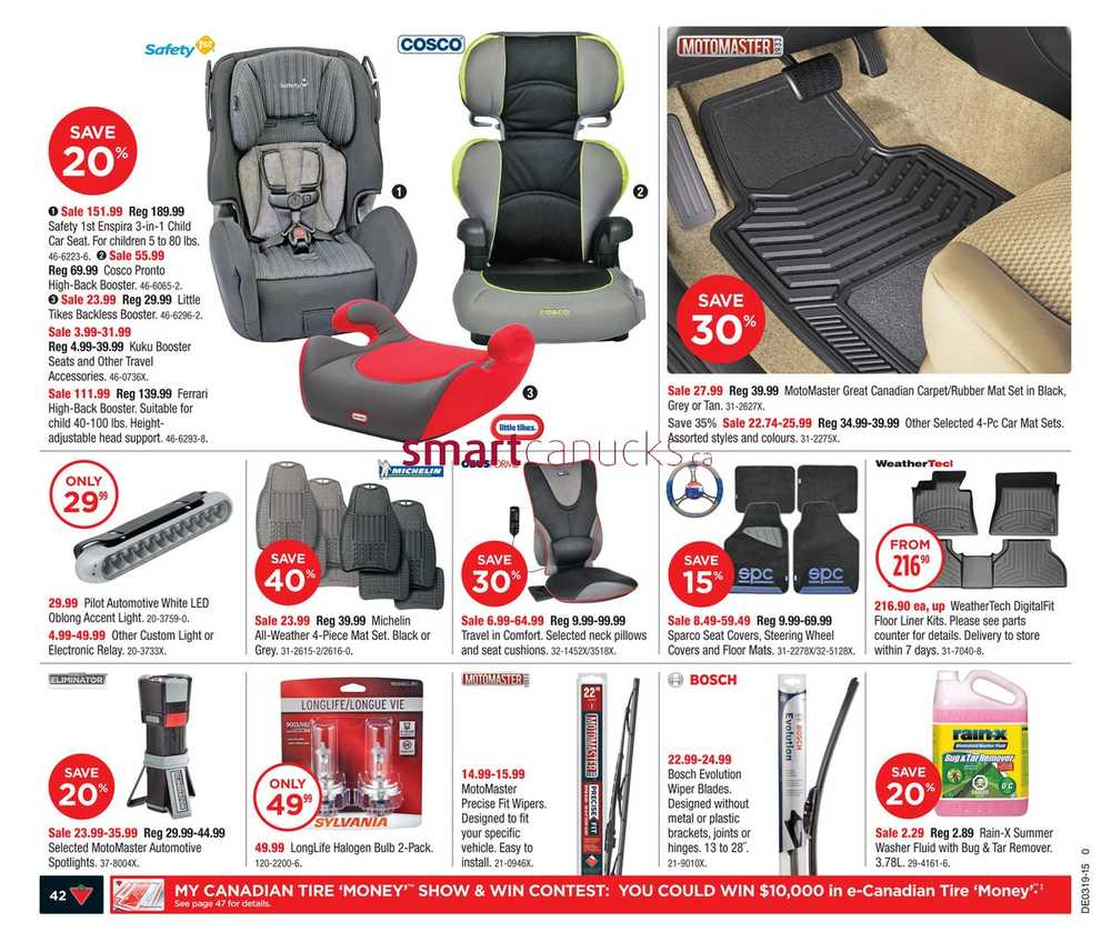 Floor mats canadian tire - Canadian Tire West Flyer May 8 To 14