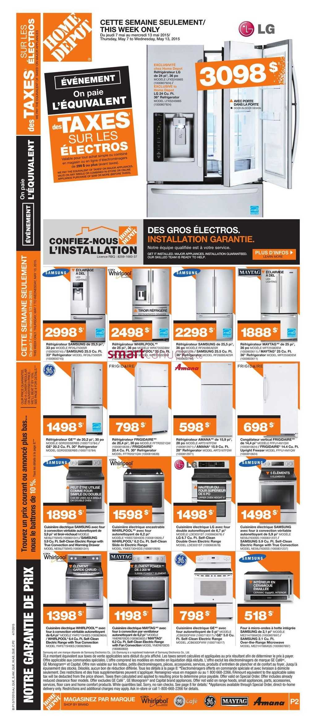 Home depot qc flyer may 7 to 13 for 7 home depot